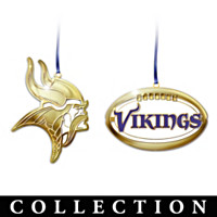 Official Minnesota Vikings Brass Ornament Collection