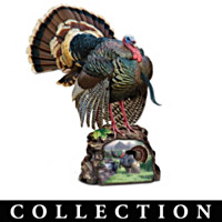 Wild Turkeys Of North America Turkey Sculpture Collection