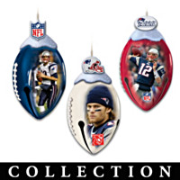 New England Patriots FootBells Ornament Collection