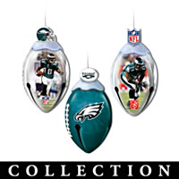Philadelphia Eagles FootBells Ornament Collection