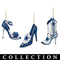 Dallas Cowboys Steppin' Out Stiletto Ornament Collection