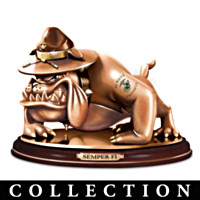 USMC Devil Dogs Tribute Sculpture Collection