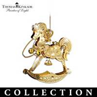 Thomas Kinkade Golden Holiday Ornament Collection
