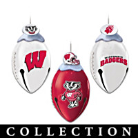 Wisconsin Badgers FootBells Ornament Collection