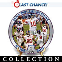 The New York Giants Super Bowl Champions Plate Collection