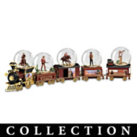 John Wayne Express Miniature Water Globe Train Collection