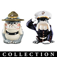 USMC Devil Dog Salt And Pepper Shaker Collection
