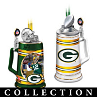 Green Bay Packers Beer Stein Ornament Collection