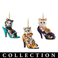 Sassy Cat-itudes Ornament Collection