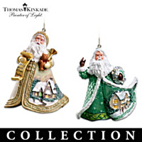 Sugar-Coated Santas Ornament Collection