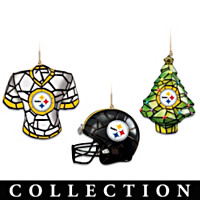 Pittsburgh Steelers Gridiron Glow Ornament Collection