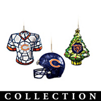 Chicago Bears Gridiron Glow Ornament Collection