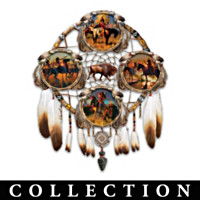 Noble Warrior Glow In The Dark Collector Plate Collection