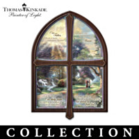 Thomas Kinkade Window Plates