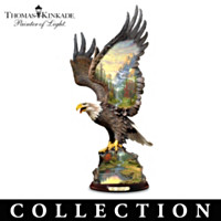 Thomas Kinkade Guardian Wings Eagle Sculpture Collection