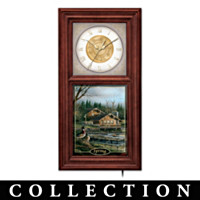 Redlin Seasonal Wall Clock Collection