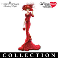 Thomas Kinkade Passion For Red Figurine Collection