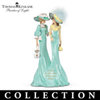 Thomas Kinkade Beloved Sisters Figurine Collection