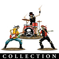 Snakes And Bones Rock Band Figurine Collection