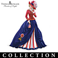 Thomas Kinkade Freedom's In Fashion Figurine Patriotic Collection