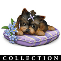 Pretty In Purple Yorkie Figurine Collection