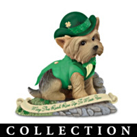 Irish Blessing Yorkie Figurine Collection