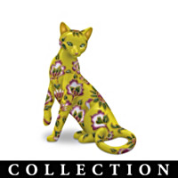 Cloisonne Garden Of Cats Figurine Collection