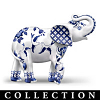 Parade In Blue Willow Figurine Collection