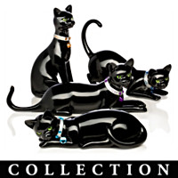 Virtues Of The Black Cat Figurine Collection