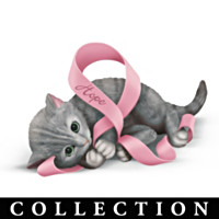 Ribbons Of Purr-fect Hope Figurine Collection