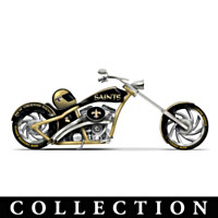 New Orleans Saints Motorcycle Figurine Collection