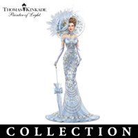 Thomas Kinkade Crystals Of Elegance Figurine Collection