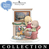 Thomas Kinkade Precious Moments Figurines With Art Prints by