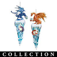 Kingdom Of The Ice Dragons Ornament Collection