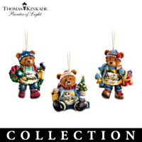 Thomas Kinkade Teddy Bear Ornament Collection: Set Of Three