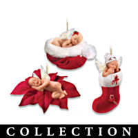 Santa's Little Angels Ornament Collection: Set of Three