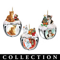Purr-fect Holiday Sleigh Bells Ornament Collection