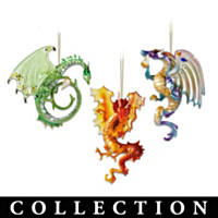 Dragons Of The Crystal Cave Ornament Collection