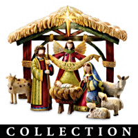 Peace On Earth Nativity Figurine Collection