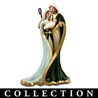 Emerald Elegance Irish Nativity Figurine Collection