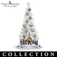 Thomas Kinkade Perfect Christmas Morning Tree Collection