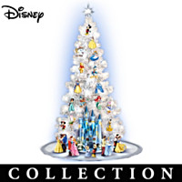 Magic Of Disney Christmas Tree With Sculptures Collection