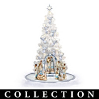 Ebony Elegance Christmas Tree Nativity Collection