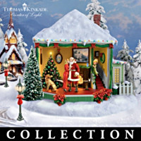 Thomas Kinkade Holiday Rotating Village Collection