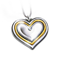 My Daughter, My Joy Diamond Heart Pendant Necklace