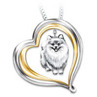 Loyal Companion Pomeranian Pendant Necklace