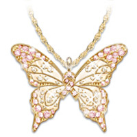 Butterfly Of Hope Pendant Necklace