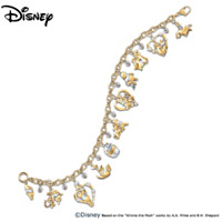 Pooh & Friends Swarovski Crystal Charm Bracelet