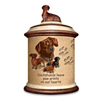 Tail Waggin' Treats: Dachshund Canister