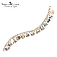 Thomas Kinkade Ultimate Village Christmas Charm Bracelet